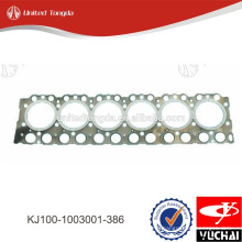 KJ100-1003001-386 yuchai cylinder head gasket for YC6K